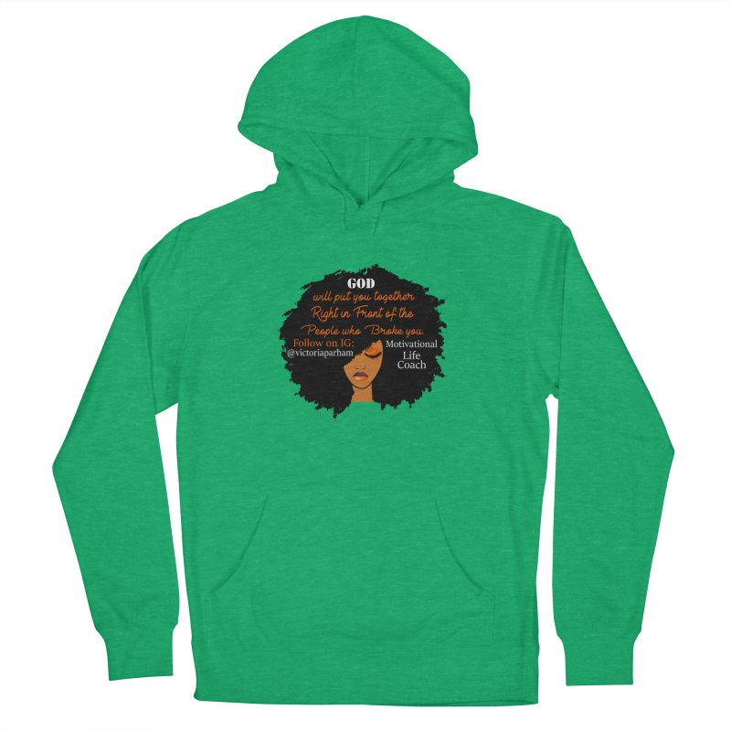 Woman of Faith - Branded Life Coaching item Men's French Terry Pullover Hoody by Victoria Parham's Sassy Quotes Shop