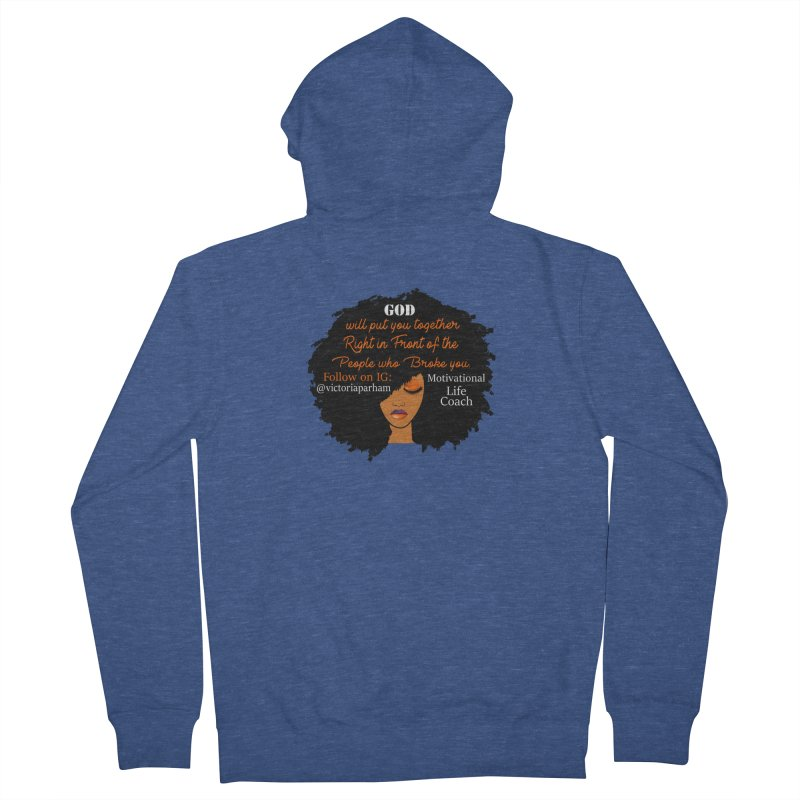 Woman of Faith - Branded Life Coaching item Women's French Terry Zip-Up Hoody by Victoria Parham's Sassy Quotes Shop