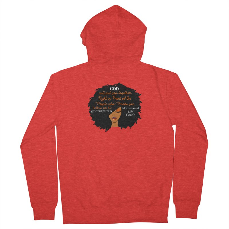 Woman of Faith - Branded Life Coaching item Men's Zip-Up Hoody by Victoria Parham's Sassy Quotes Shop