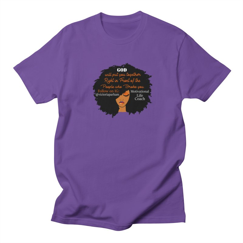 Woman of Faith - Branded Life Coaching item Men's Regular T-Shirt by Victoria Parham's Sassy Quotes Shop