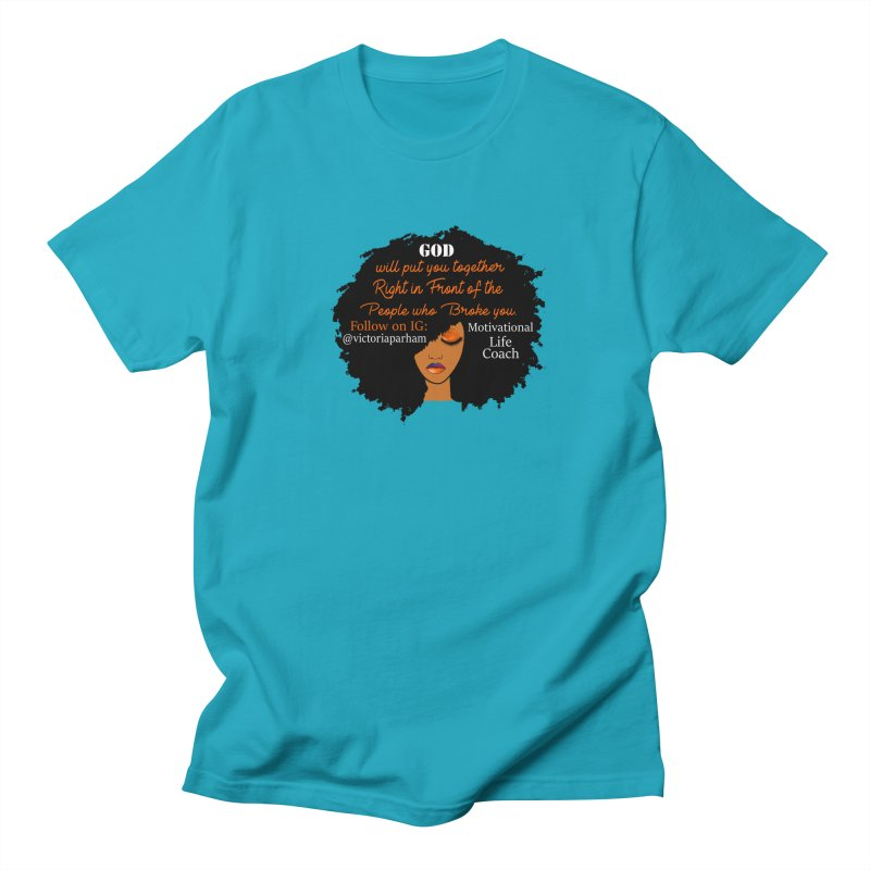 Woman of Faith - Branded Life Coaching item Women's Regular Unisex T-Shirt by Victoria Parham's Sassy Quotes Shop