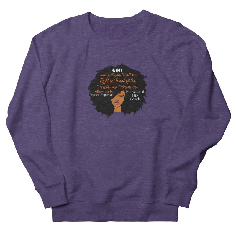 Woman of Faith - Branded Life Coaching item Men's French Terry Sweatshirt by Victoria Parham's Sassy Quotes Shop