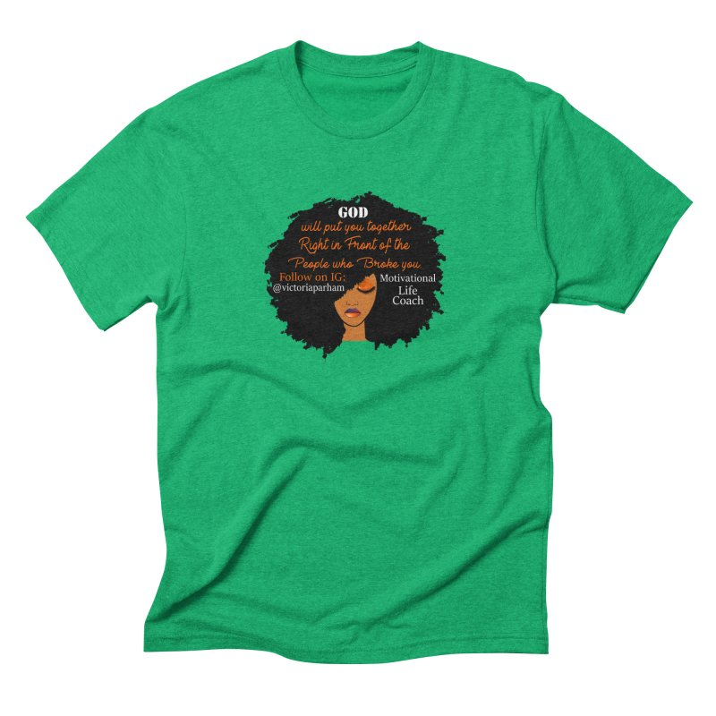 Woman of Faith - Branded Life Coaching item Men's Triblend T-Shirt by Victoria Parham's Sassy Quotes Shop
