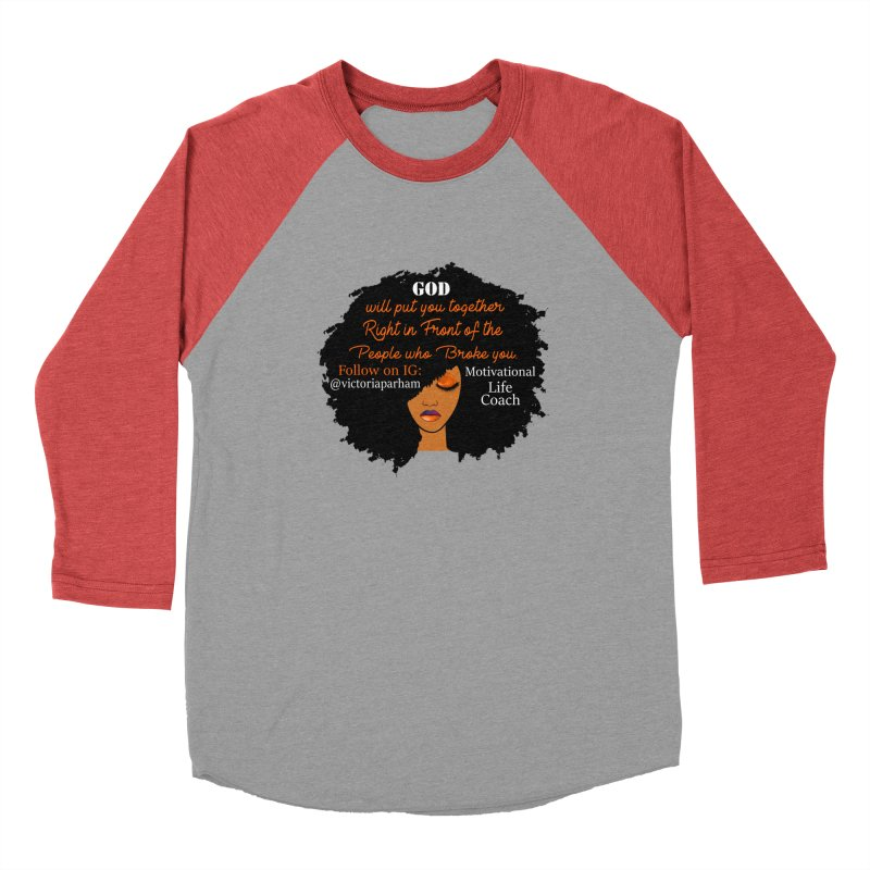 Woman of Faith - Branded Life Coaching item Men's Baseball Triblend Longsleeve T-Shirt by Victoria Parham's Sassy Quotes Shop