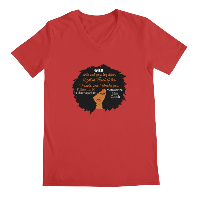 Woman of Faith - Branded Life Coaching item Men's Regular V-Neck by Victoria Parham's Sassy Quotes Shop