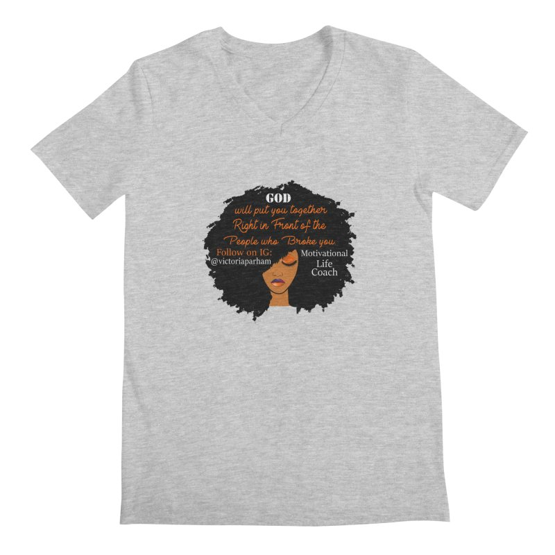 Woman of Faith - Branded Life Coaching item Men's V-Neck by Victoria Parham's Sassy Quotes Shop