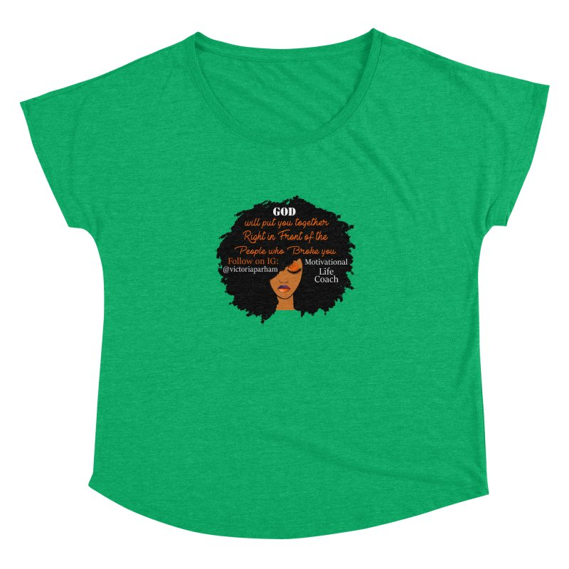 Woman of Faith - Branded Life Coaching item Women's Dolman Scoop Neck by Victoria Parham's Sassy Quotes Shop