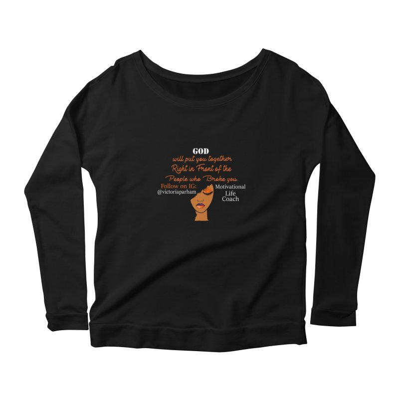 Woman of Faith - Branded Life Coaching item Women's Scoop Neck Longsleeve T-Shirt by Victoria Parham's Sassy Quotes Shop