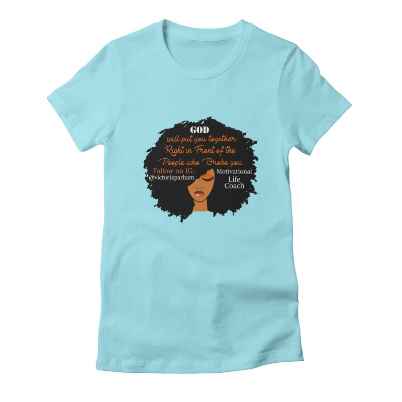 Woman of Faith - Branded Life Coaching item Women's Fitted T-Shirt by Victoria Parham's Sassy Quotes Shop