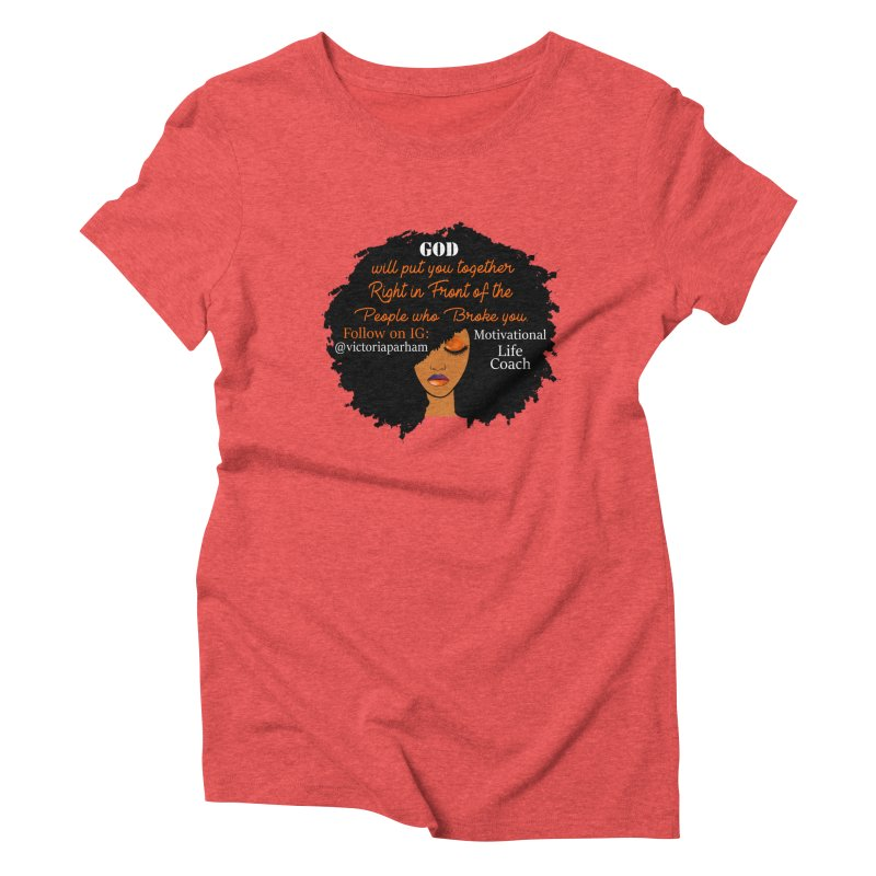 Woman of Faith - Branded Life Coaching item Women's Triblend T-Shirt by Victoria Parham's Sassy Quotes Shop