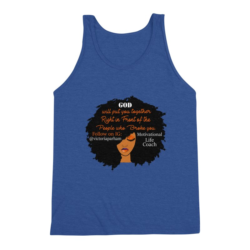 Woman of Faith - Branded Life Coaching item Men's Tank by Victoria Parham's Sassy Quotes Shop