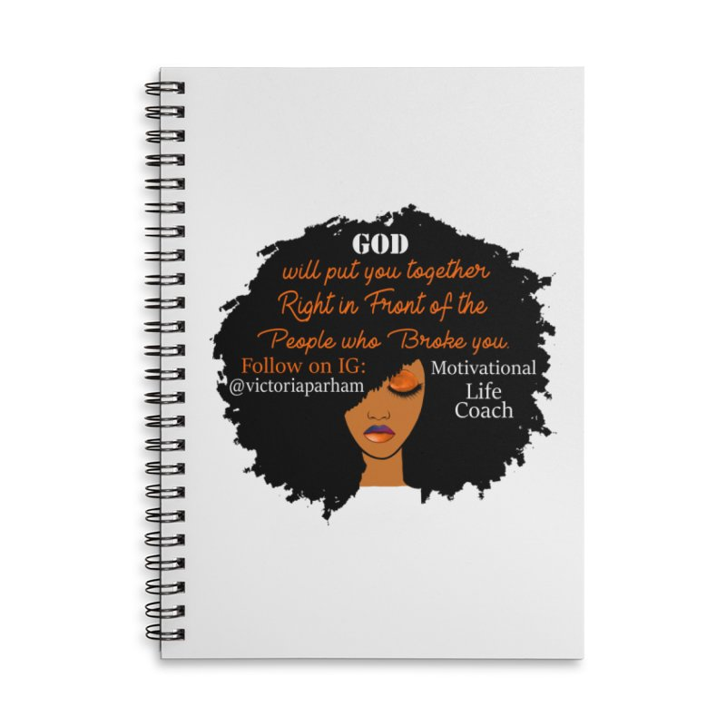 Woman of Faith - Branded Life Coaching item Accessories Lined Spiral Notebook by Victoria Parham's Sassy Quotes Shop