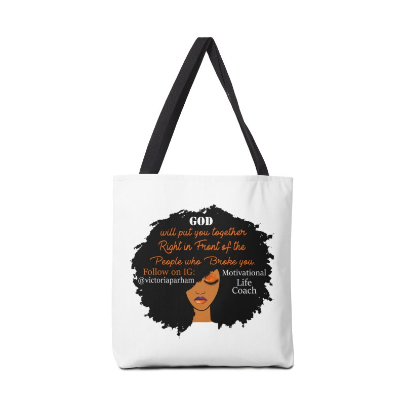 Woman of Faith - Branded Life Coaching item Accessories Tote Bag Bag by Victoria Parham's Sassy Quotes Shop