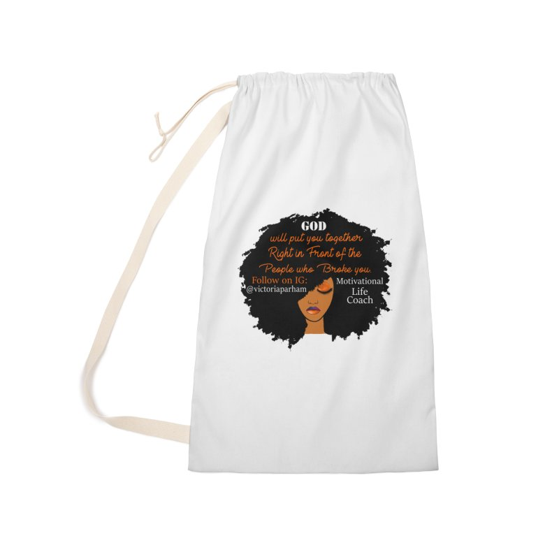 Woman of Faith - Branded Life Coaching item Accessories Laundry Bag Bag by Victoria Parham's Sassy Quotes Shop