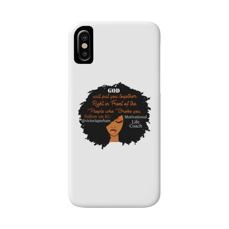 Woman of Faith - Branded Life Coaching item Accessories Phone Case by Victoria Parham's Sassy Quotes Shop