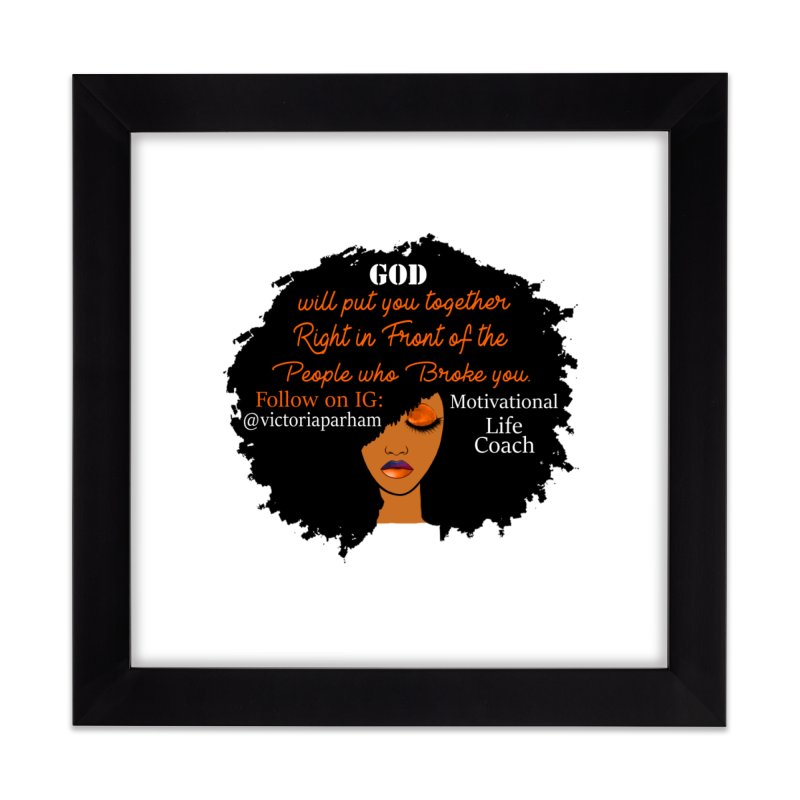 Woman of Faith - Branded Life Coaching item Home Framed Fine Art Print by Victoria Parham's Sassy Quotes Shop