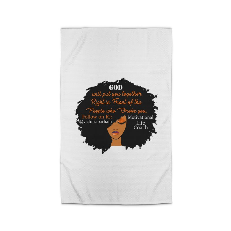 Woman of Faith - Branded Life Coaching item Home Rug by Victoria Parham's Sassy Quotes Shop