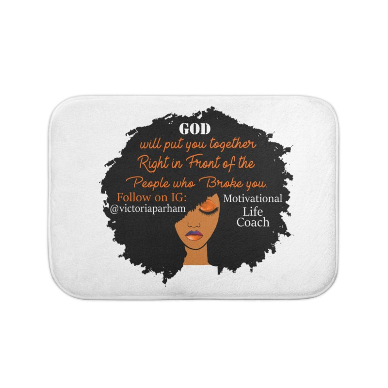 Woman of Faith - Branded Life Coaching item Home Bath Mat by Victoria Parham's Sassy Quotes Shop