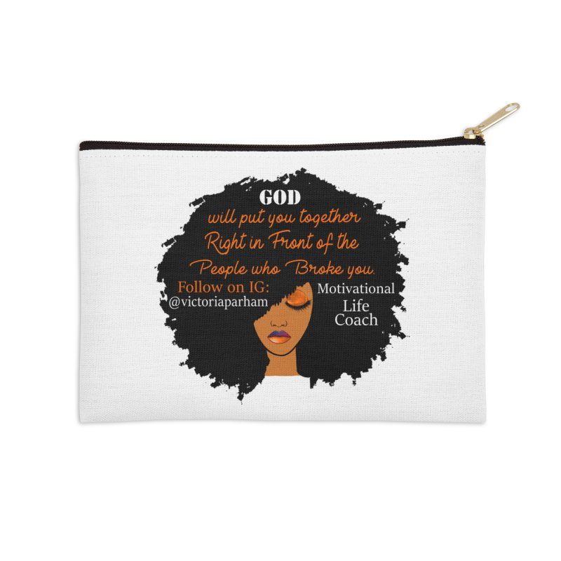 Woman of Faith - Branded Life Coaching item Accessories Zip Pouch by Victoria Parham's Sassy Quotes Shop
