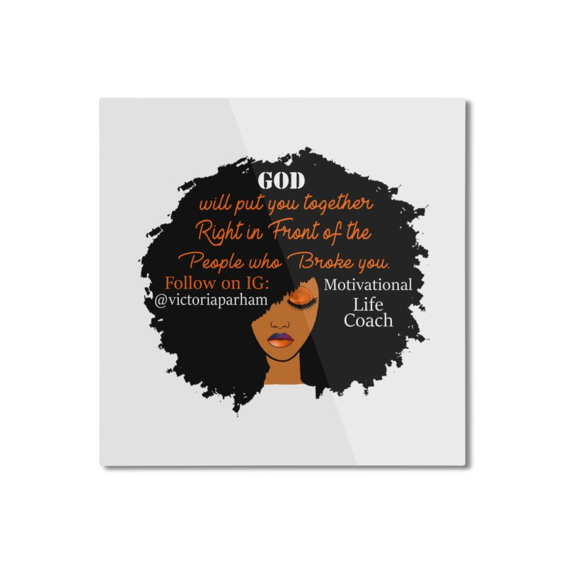 Woman of Faith - Branded Life Coaching item Home Mounted Aluminum Print by Victoria Parham's Sassy Quotes Shop