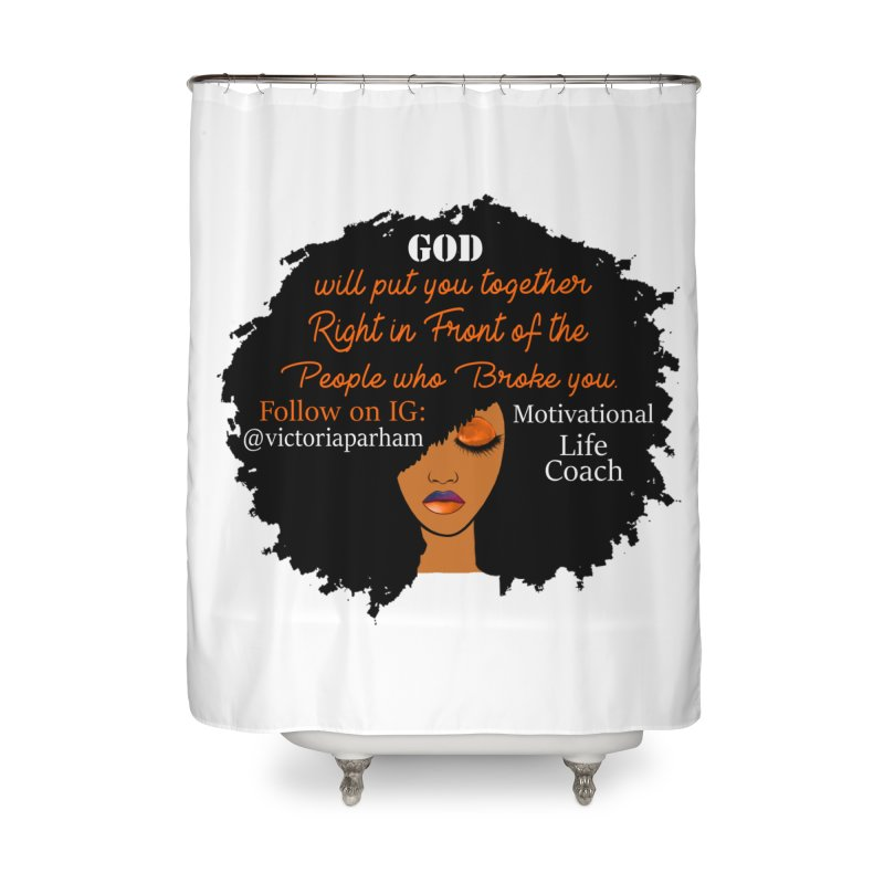 Woman of Faith - Branded Life Coaching item Home Shower Curtain by Victoria Parham's Sassy Quotes Shop