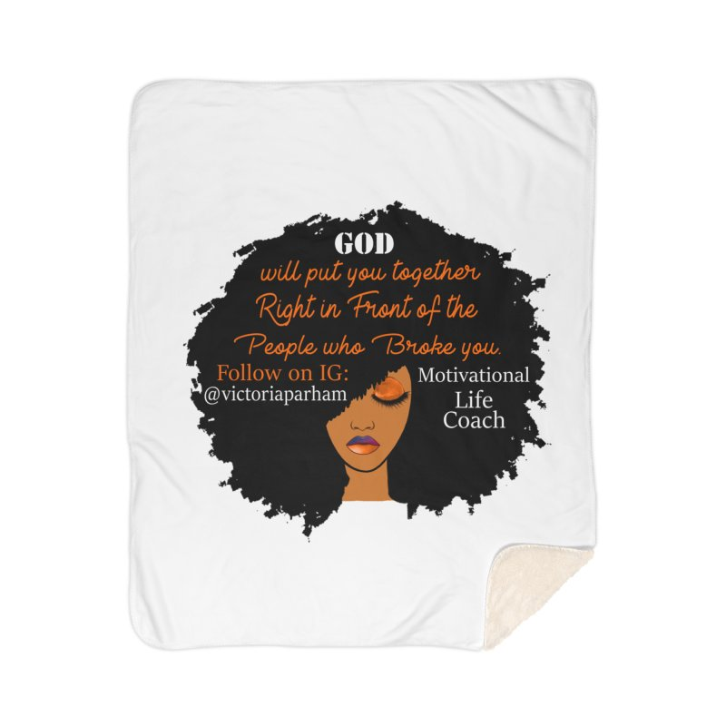 Woman of Faith - Branded Life Coaching item Home Blanket by Victoria Parham's Sassy Quotes Shop