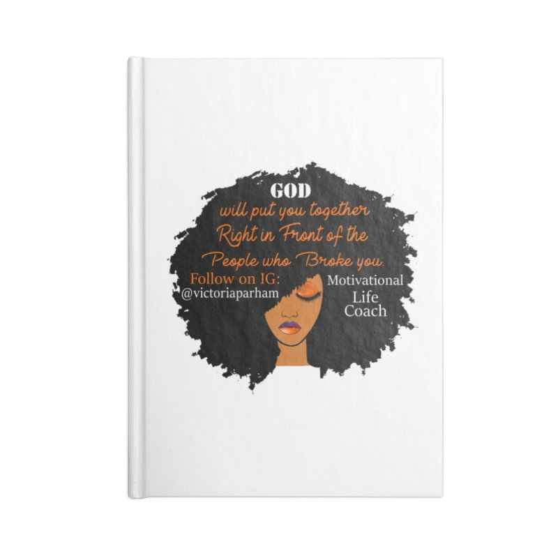Woman of Faith - Branded Life Coaching item Accessories Lined Journal Notebook by Victoria Parham's Sassy Quotes Shop