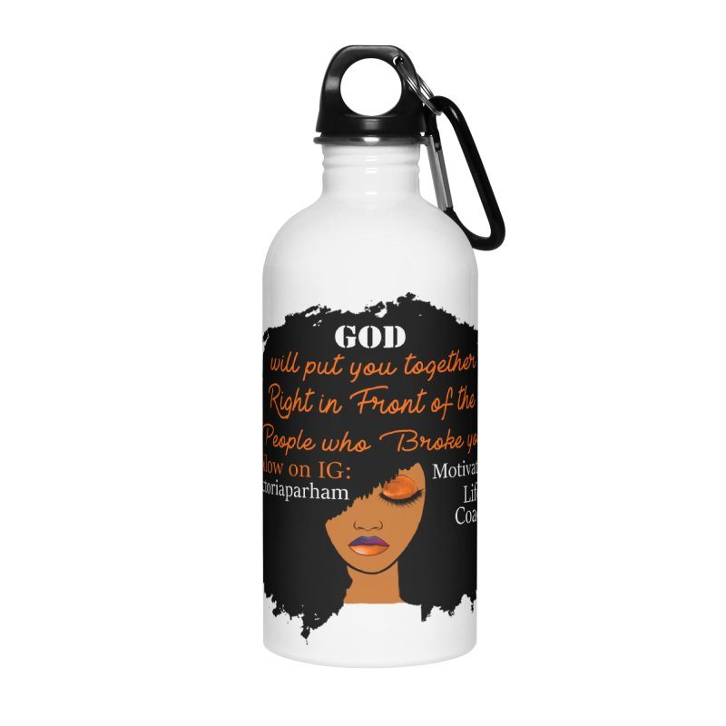 Woman of Faith - Branded Life Coaching item Accessories Water Bottle by Victoria Parham's Sassy Quotes Shop