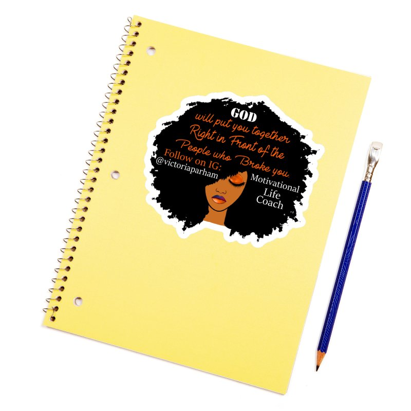 Woman of Faith - Branded Life Coaching item Accessories Sticker by Victoria Parham's Sassy Quotes Shop