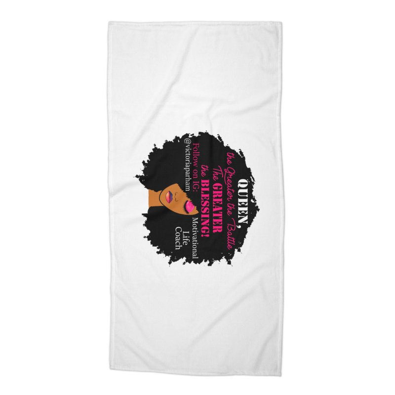 Queen - Branded Life Coaching Item Accessories Beach Towel by Victoria Parham's Sassy Quotes Shop