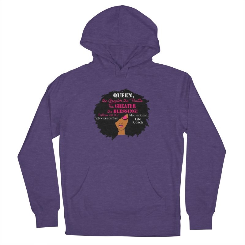 Queen - Branded Life Coaching Item Men's French Terry Pullover Hoody by Victoria Parham's Sassy Quotes Shop