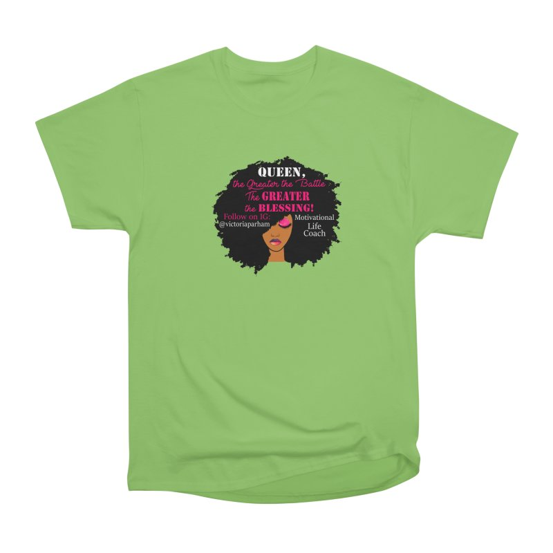 Queen - Branded Life Coaching Item Women's Heavyweight Unisex T-Shirt by Victoria Parham's Sassy Quotes Shop