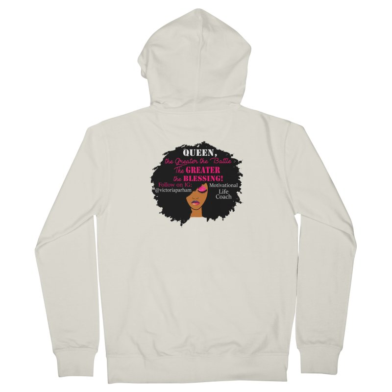 Queen - Branded Life Coaching Item Men's Zip-Up Hoody by Victoria Parham's Sassy Quotes Shop