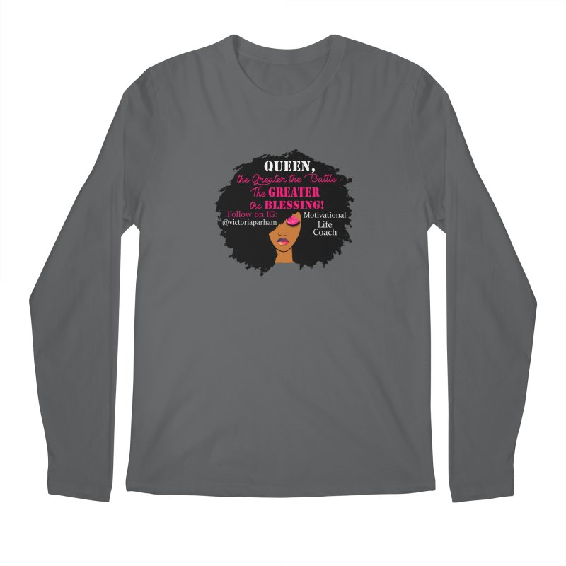 Queen - Branded Life Coaching Item Men's Longsleeve T-Shirt by Victoria Parham's Sassy Quotes Shop