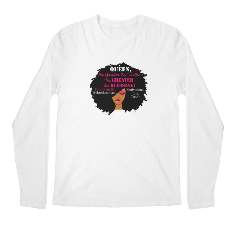 Queen - Branded Life Coaching Item Men's Regular Longsleeve T-Shirt by Victoria Parham's Sassy Quotes Shop
