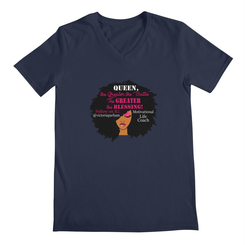 Queen - Branded Life Coaching Item Men's Regular V-Neck by Victoria Parham's Sassy Quotes Shop