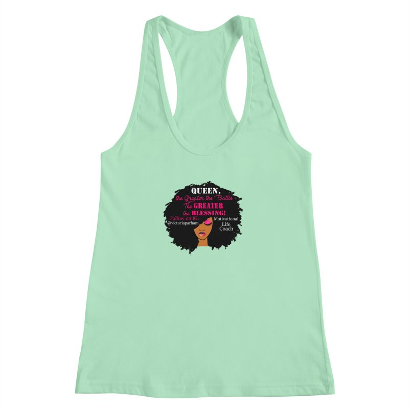 Queen - Branded Life Coaching Item Women's Racerback Tank by Victoria Parham's Sassy Quotes Shop