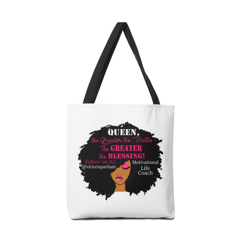 Queen - Branded Life Coaching Item Accessories Bag by Victoria Parham's Sassy Quotes Shop