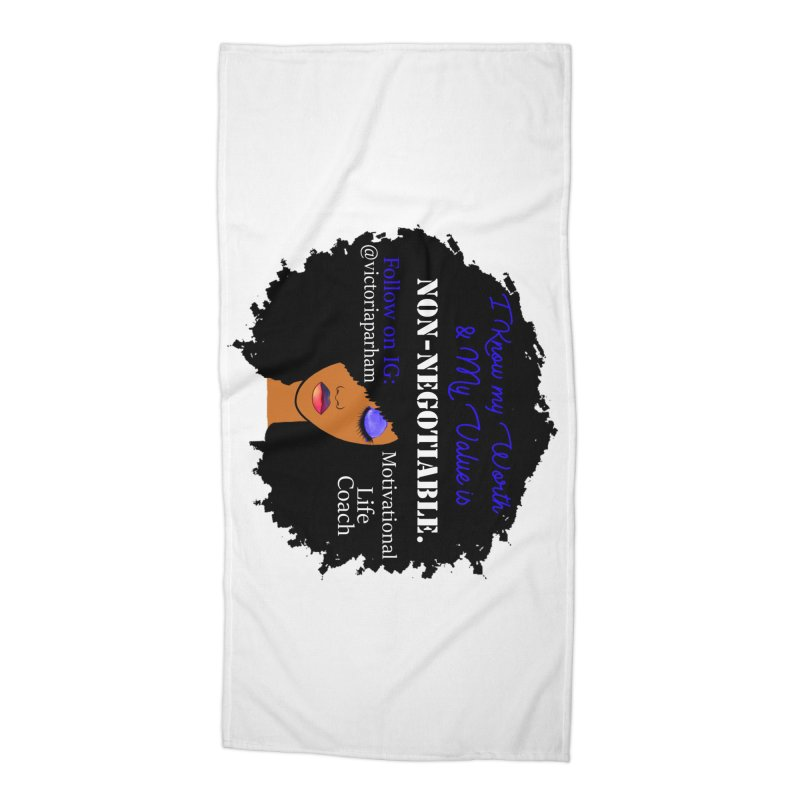 I Know My Value - Branded Life Coaching Item Accessories Beach Towel by Victoria Parham's Sassy Quotes Shop
