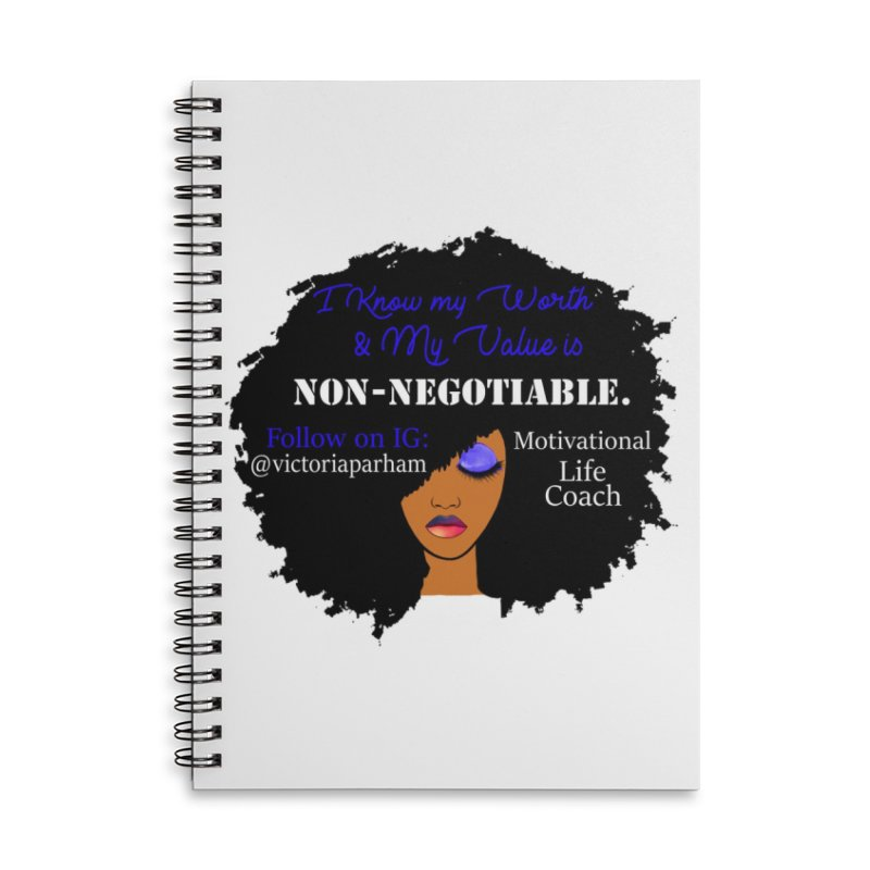 I Know My Value - Branded Life Coaching Item Accessories Lined Spiral Notebook by Victoria Parham's Sassy Quotes Shop