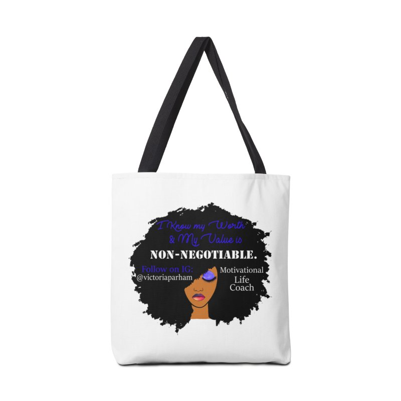 I Know My Value - Branded Life Coaching Item Accessories Tote Bag Bag by Victoria Parham's Sassy Quotes Shop