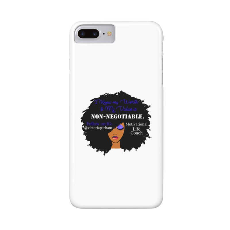 I Know My Value - Branded Life Coaching Item Accessories Phone Case by Victoria Parham's Sassy Quotes Shop