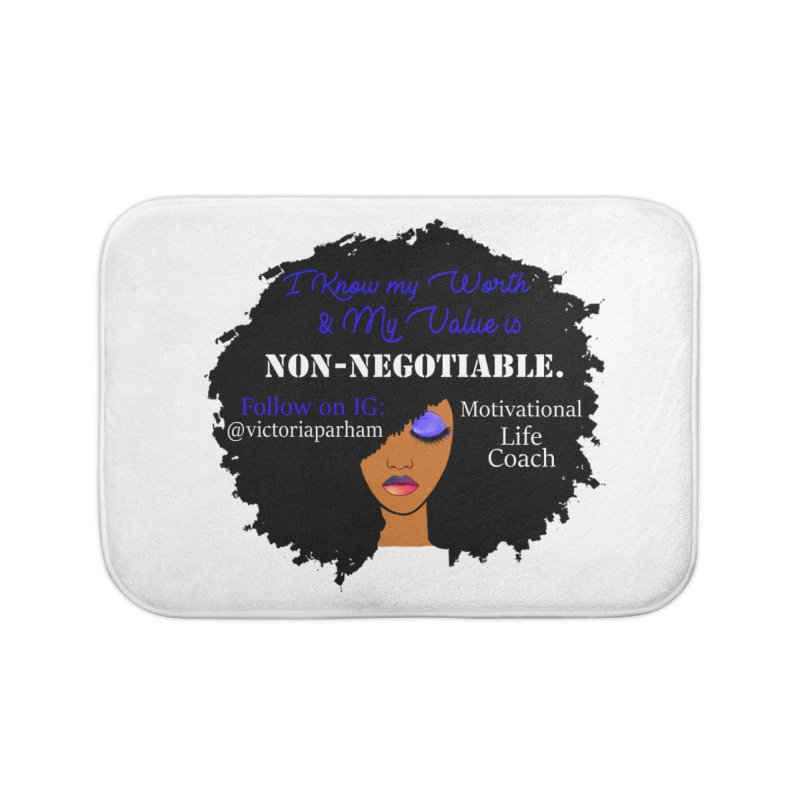 I Know My Value - Branded Life Coaching Item Home Bath Mat by Victoria Parham's Sassy Quotes Shop