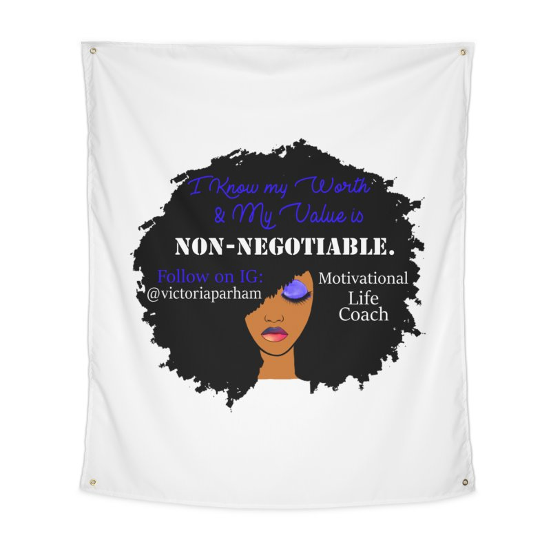 I Know My Value - Branded Life Coaching Item Home Tapestry by Victoria Parham's Sassy Quotes Shop