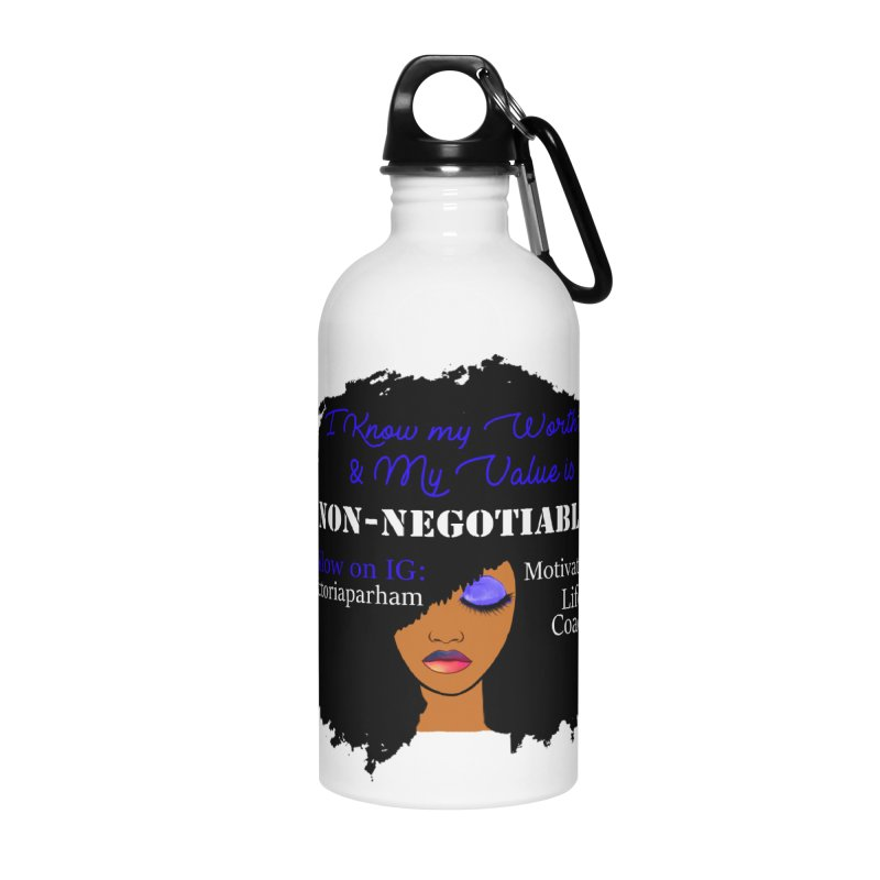 I Know My Value - Branded Life Coaching Item Accessories Water Bottle by Victoria Parham's Sassy Quotes Shop
