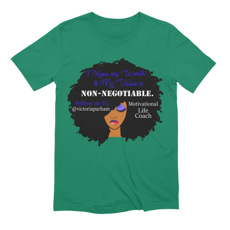 I Know My Value - Branded Life Coaching Item Men's T-Shirt by Victoria Parham's Sassy Quotes Shop