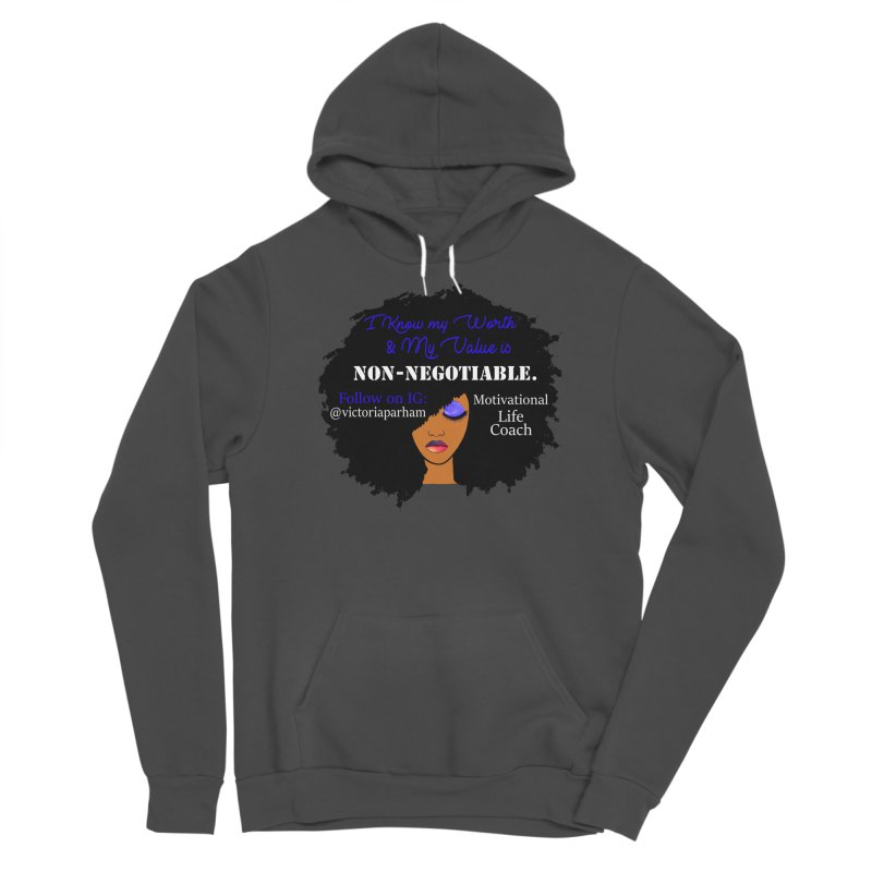 I Know My Value - Branded Life Coaching Item Men's Sponge Fleece Pullover Hoody by Victoria Parham's Sassy Quotes Shop