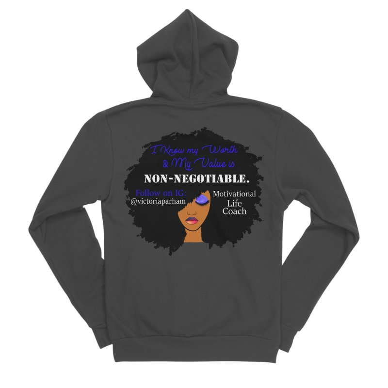 I Know My Value - Branded Life Coaching Item Men's Sponge Fleece Zip-Up Hoody by Victoria Parham's Sassy Quotes Shop