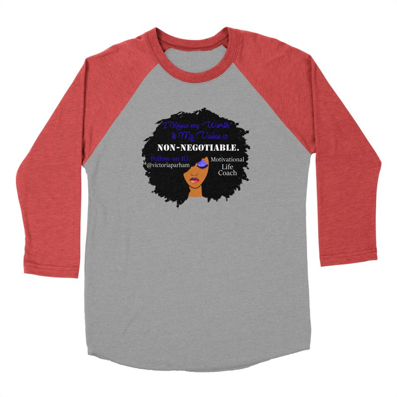 I Know My Value - Branded Life Coaching Item Women's Baseball Triblend Longsleeve T-Shirt by Victoria Parham's Sassy Quotes Shop