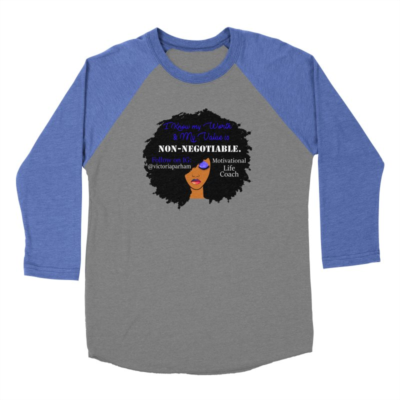 I Know My Value - Branded Life Coaching Item Men's Baseball Triblend Longsleeve T-Shirt by Victoria Parham's Sassy Quotes Shop